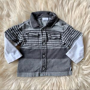 🌟3/$15🌟Baby mexx boys grey shirt